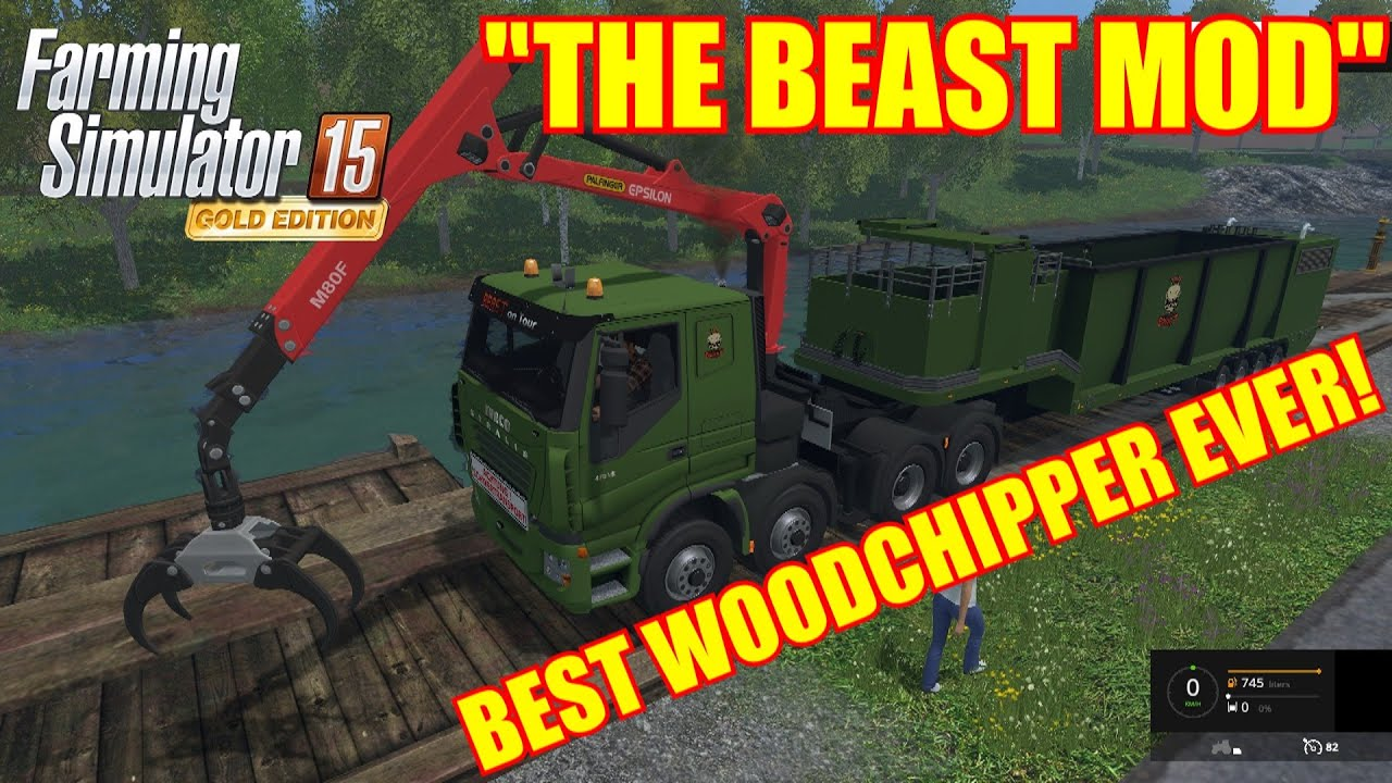 how to use the wood chipper on farming simulator 15