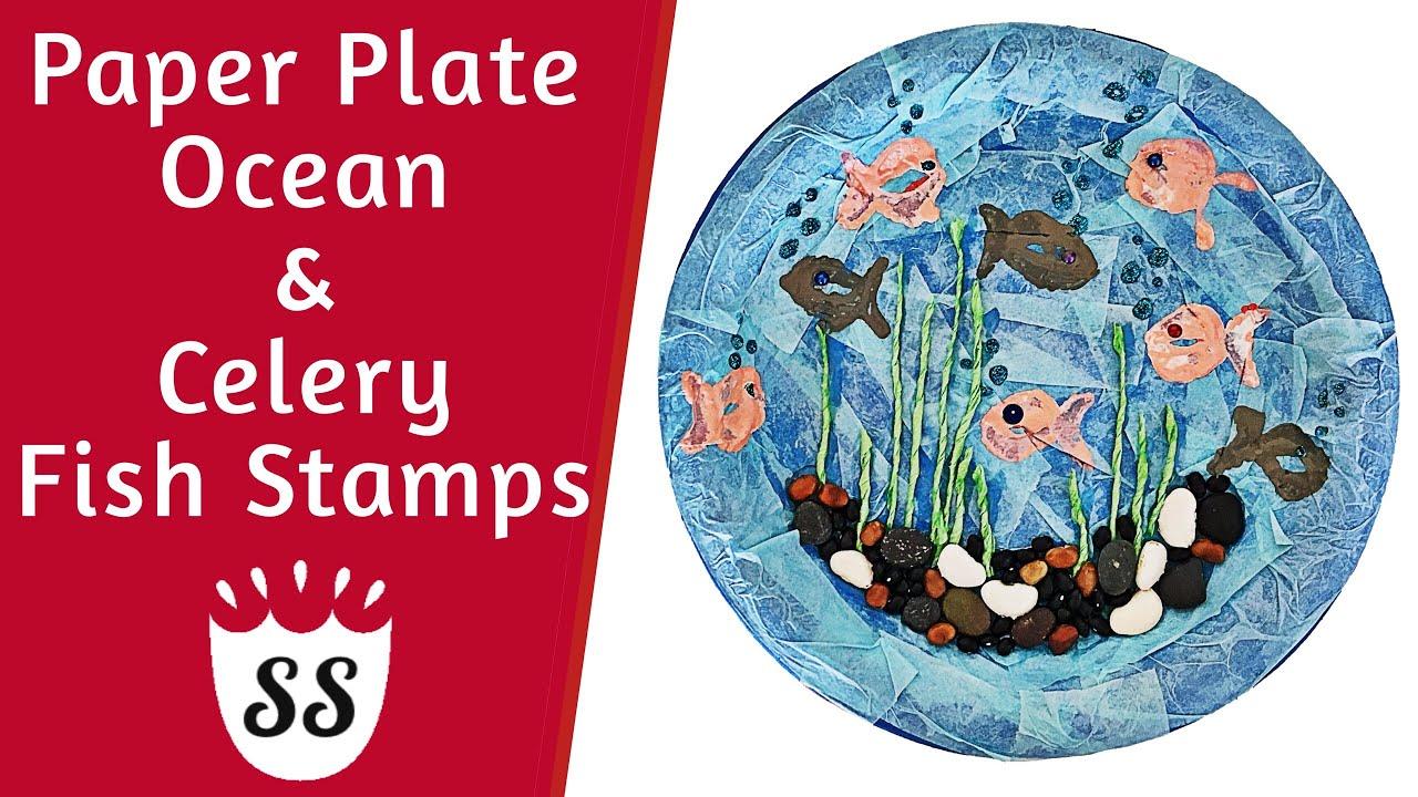 Paper Plate Ocean Crafts For Kids Easy Summer Crafts