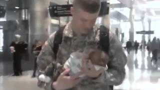 Soldier Nik Meets his Son for the 1st time.mp4