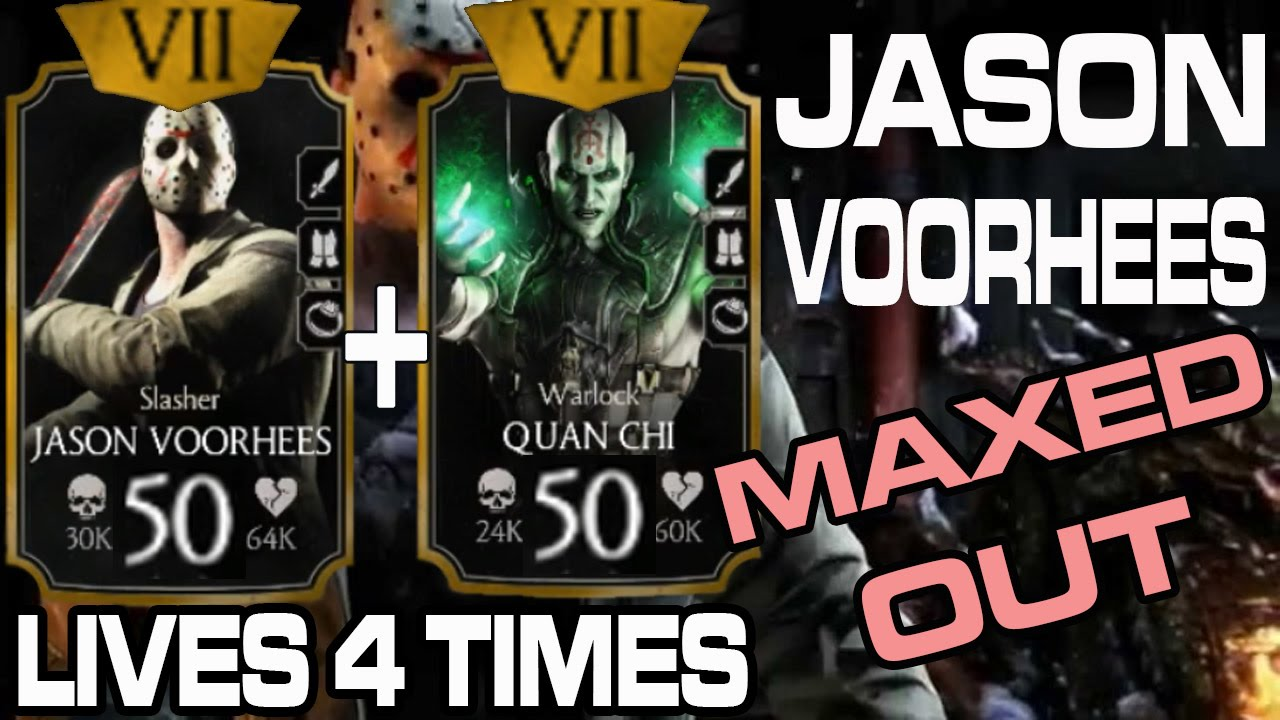 Jason Voorhees MAXED OUT! (MKX Mobile) The Strongest Gold Kard yet!