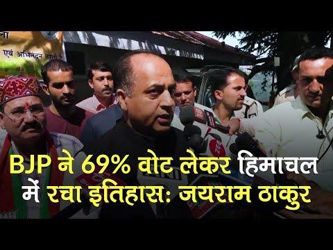 BJP created history by 69% vote share in Himachal: Jairam Thakur