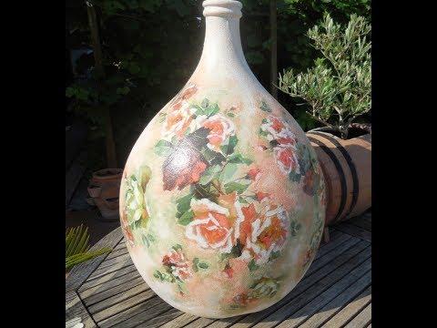 Damigiane in vetro 1 doovi for Decoupage su vaso di vetro