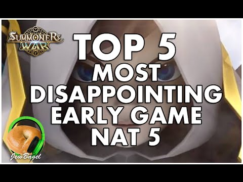 SUMMONERS WAR : TOP 5 DISAPPOINTING EARLY GAME NAT 5's