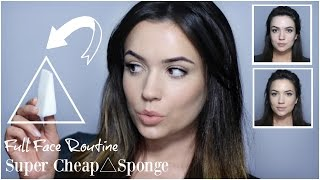 Cheap Makeup Sponge Application | Foundation, Contour, Highlight & Blush Tutorial | TheMakeupChair