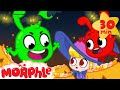 Orphle Steals Halloween Candy - BRAND NEW | Morphle vs Orphle | Cartoons for Kids