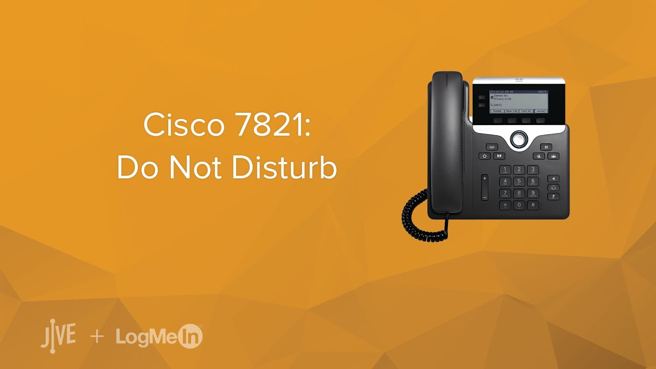 how to turn off do not disturb on cisco phone