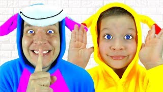 Peek A Boo! Nursery Rhymes and Kids Songs with Max and Daddy