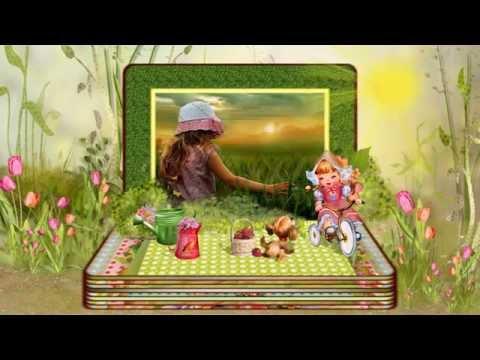 Детский альбом - шаблоны слайд-шоу
