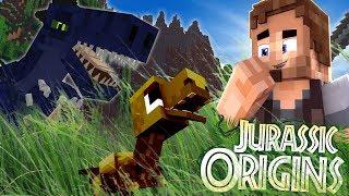 """Jurassic World Origins #10 """"BABY T-REX!"""" (Dinosaur Mod Minecraft Roleplay)"""
