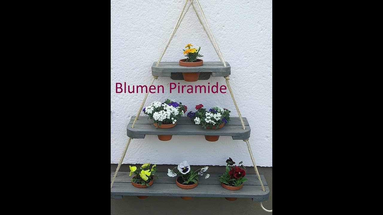 kreative ideen pyramide blumenregal f r garten balkon terrasse mein sch ner garten deco tutorial. Black Bedroom Furniture Sets. Home Design Ideas