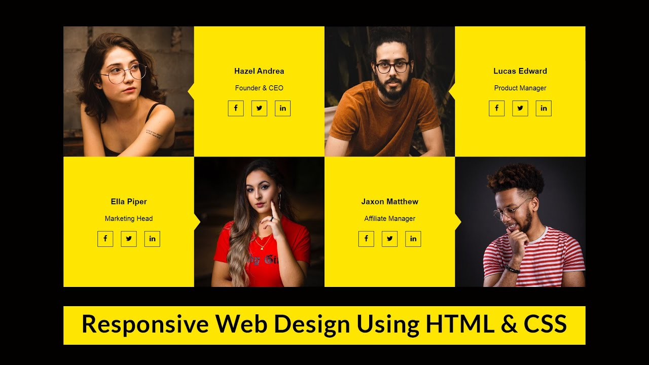 How To Make Team Section Design Using Html And Css Website Design Tutorial Step By Step Designing For Uncertainty