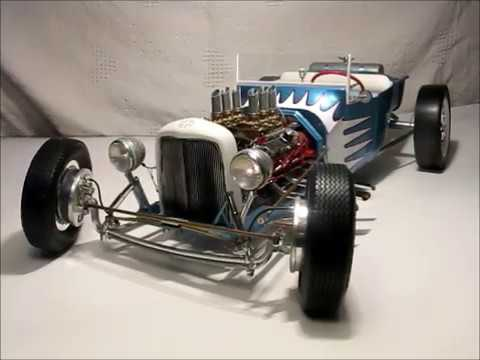 Large Scale 1 8 Model 23 T Bucket Custom Built Model Car