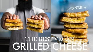 Vegan Grilled Cheese Taste Test! 6 Brands - The perfect vegan grilled cheese sandwich