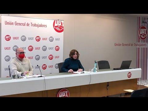 Rueda de prensa de Ana García de la Torre para analizar la evolución de los accidentes de trabajo