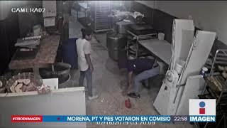 En segundos roban pastelería en la Venustiano Carranza | Noticias con Ciro