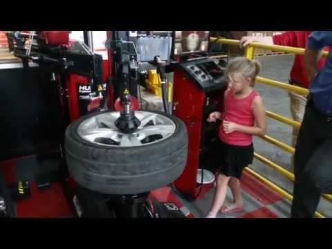 8 Year Old Changing A Tire - The Revolution Tire Changer