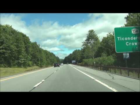New York - Interstate 87 North (Adirondack Northway) - Mile Marker 80 to 100