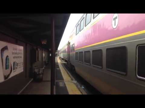 Commuter Rail departing Newtonville
