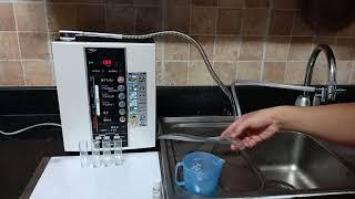 Test và hướng dẫn sử dụng máy lọc nước điện giải TREVI FW-407  Test PH thực tế từ 2.5 - 11.0