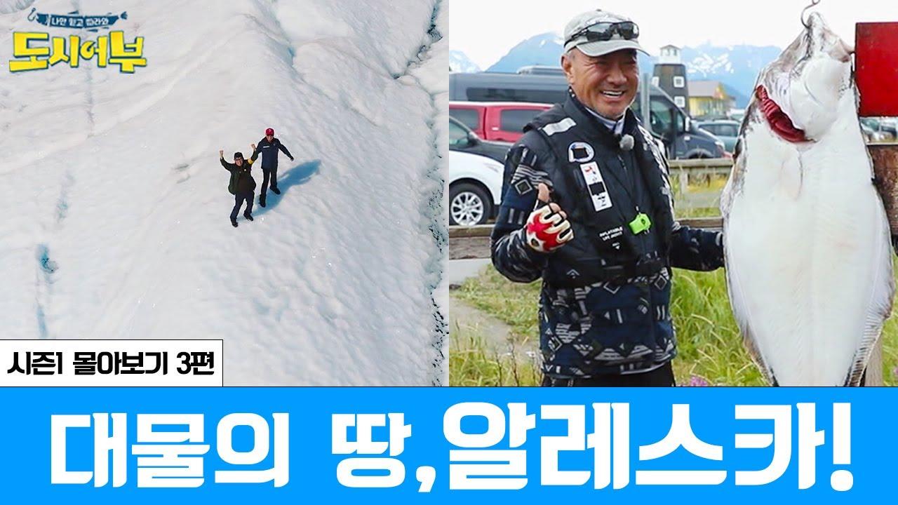 [시즌1 몰아보기 스페셜 3회] '대물의 땅' 알레스카에서 만난 13짜 광어!