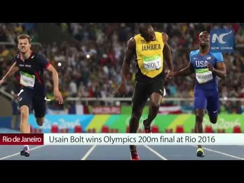 Usain Bolt wins Olympics 200m final at Rio 2016