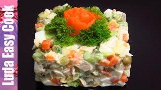 Салат ОЛИВЬЕ без майонеза и картофеля! ЕШЬ, СКОЛЬКО ХОЧЕШЬ! | Pea, Cucumber and Avocado Salad Recipe