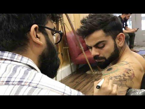 Virat Kohli Gets New Tattoo On His Shoulder Before Ipl 2018