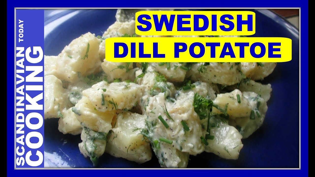 How To Make Swedish Dill Potatoe Salad Recipe Dillstuvad
