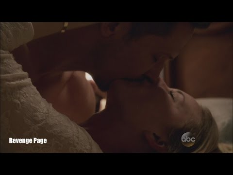 """Revenge 4x23  Emily and Jack  Finally Kiss and  Bed Scene """"Two Graves"""" Series Finale"""
