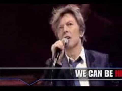 "David Bowie "" Heroes""Live with lyrics."