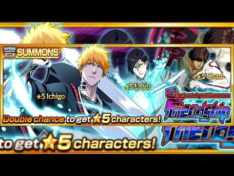 Bleach Brave Souls: Summons The Lost Agent FriendShip ! Ichigo, Uryu e Chad ! Omega Play