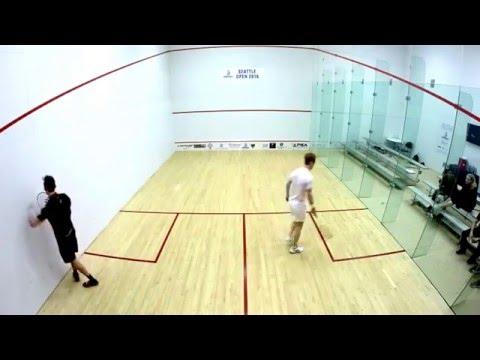 Seattle Squash Open 2016 - Men's Quarterfinal Ashley Davis (ENG) vs Andrew Schnell (CAN)