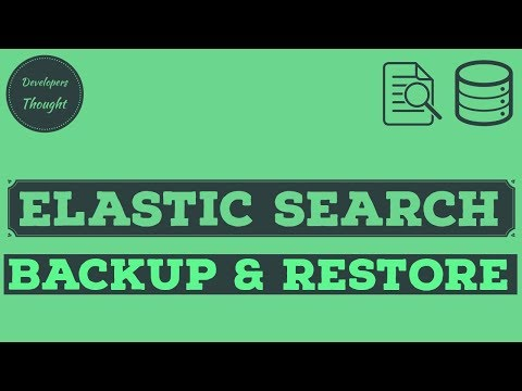 Repeat Elasticsearch Data Backup & Restore | How To Take