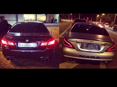 bmw m5 f10 vs mercedes cls 6.3 amg s - youtube