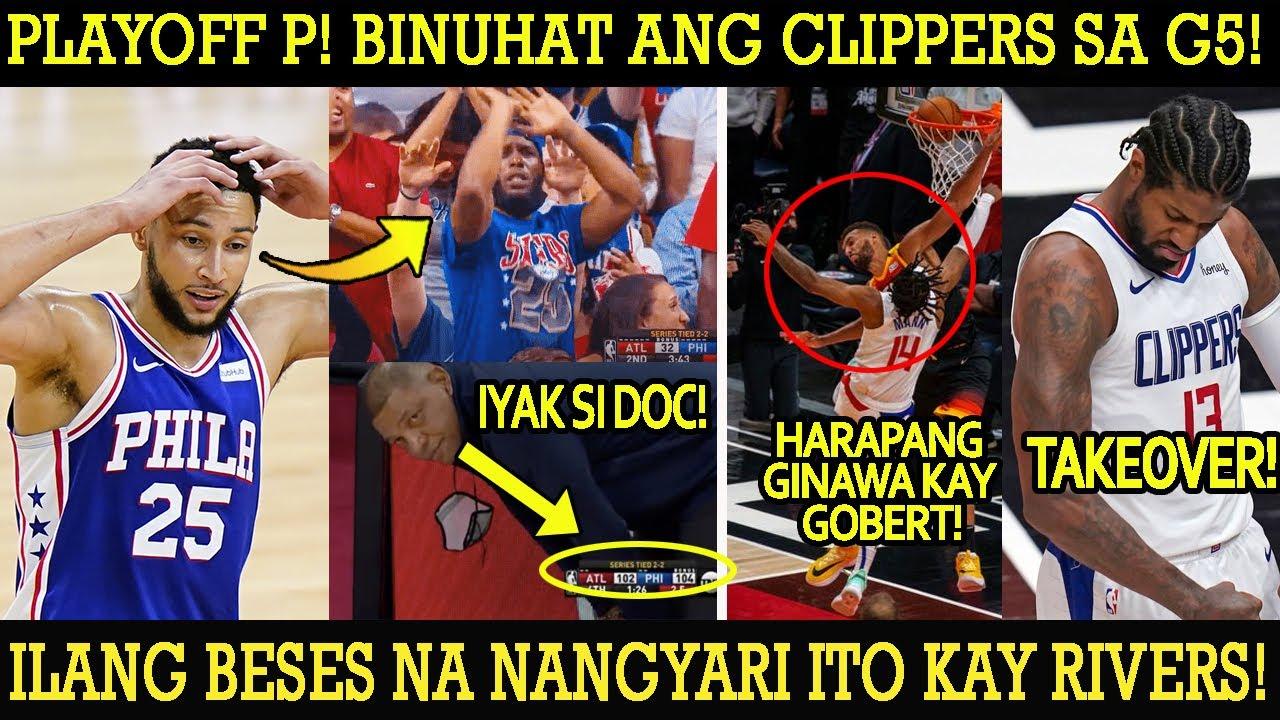 BIGGEST COMEBACK IN NBA HISTORY! SIXERS NAGCHOKE! PLAYOFF P BINUHAT ANG CLIPPERS! BINASTOS SI GOBERT