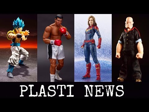 PLASTI  NEWS | S.H.Figuarts Captain Marvel | DBZ | Storm Collectibles Ali | Mezco One 12 Popeye
