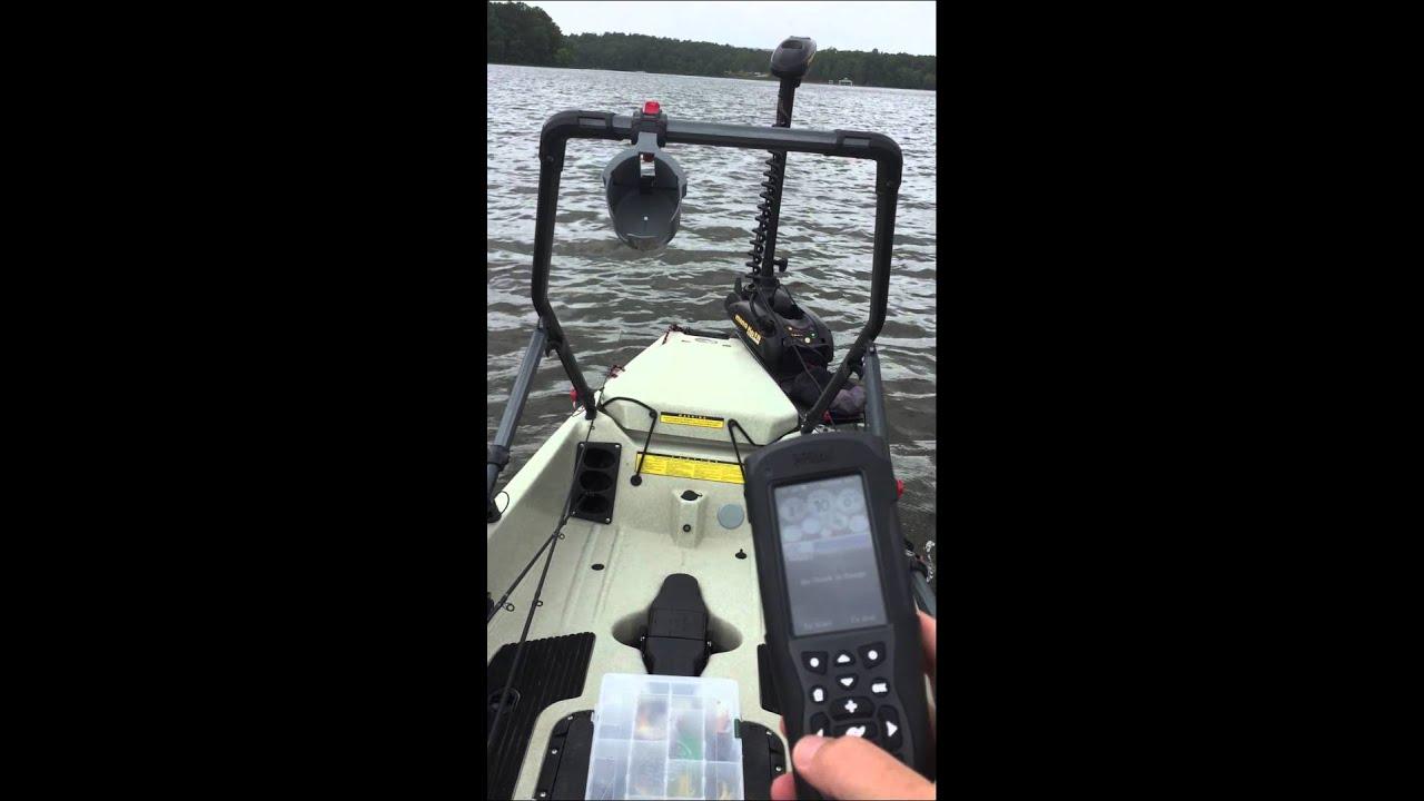 Minn Kota Trolling Motor >> Hobie 17 T pro angler with Minn Kota Terrova trolling motor with I Pilot link - YouTube