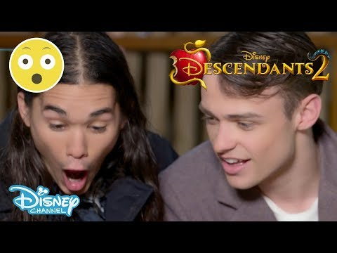 Descendants 2 | Thomas Doherty & Booboo Stewart - Spider Challenge #1 🕷 | Official Disney Channel UK