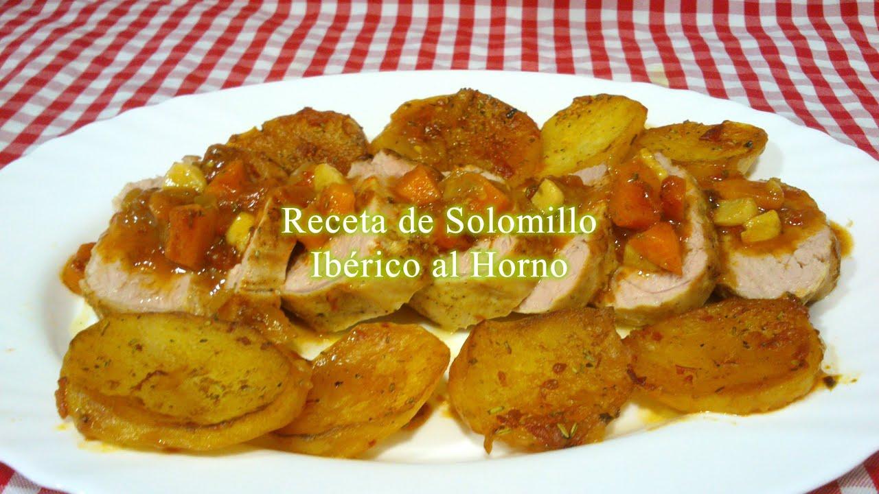 Receta simple de solomillo de cerdo al horno youtube - Solomillo de ternera al horno con mostaza ...