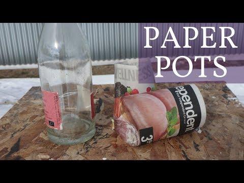 Starting Seeds with Garbage   DIY Paper Pots