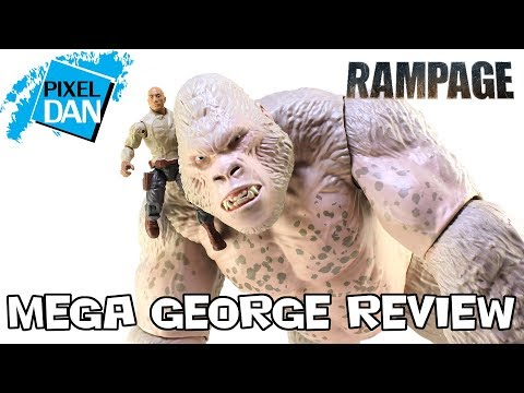 Rampage Mega George Giant Action Figure Lanard Video Review Youtube