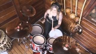 Download Video Fernanda Terra - Roots Bloody Roots - Sepultura - Drum Cover MP3 3GP MP4