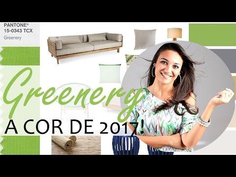 A cor de 2017: greenery