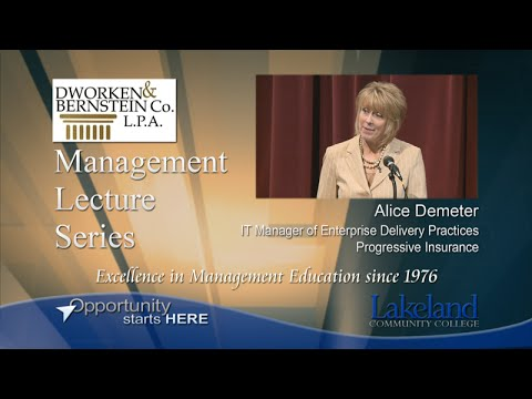 Management Lecture Series - Alice Demeter, Progressive Insurance