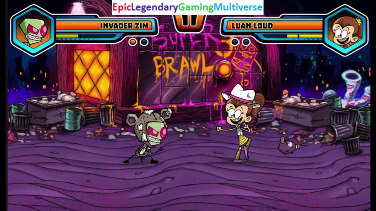 nickelodeon super brawl world match battle fight 11 invader