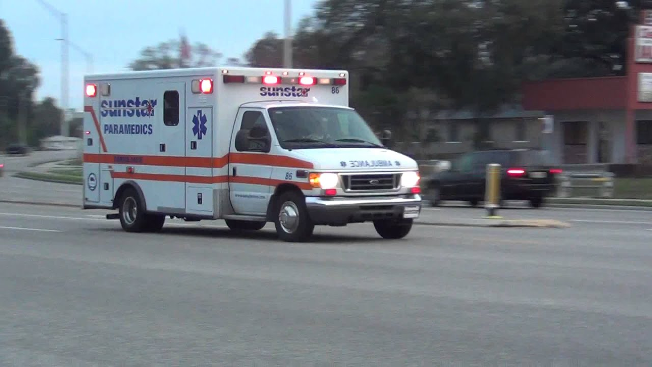 Sunstar Ford Ambulance Lights And Siren - YouTube