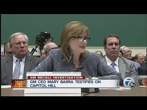 GM CEO Mary Barra testifies on Capitol Hill