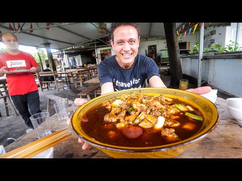 Chinese Street Food - GIANT 45 Kg ROOSTER In BOWL in Chengdu China Part 2