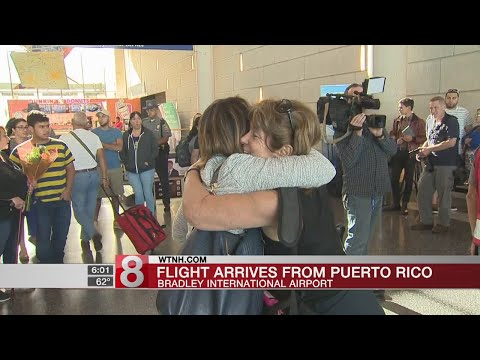 Flight from Puerto Rico arrives in Connecticut