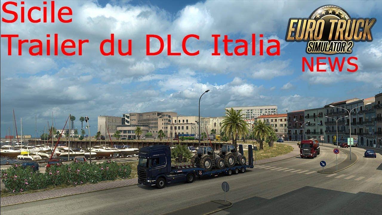 euro truck simulator 2 news sicile trailer du dlc. Black Bedroom Furniture Sets. Home Design Ideas